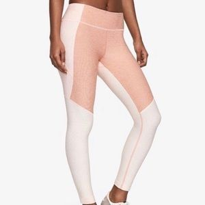 Outdoor Voices 7/8 Tri Tone Leggings Pink Small